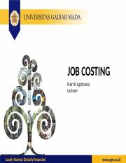 Lecture 4 Job Costing