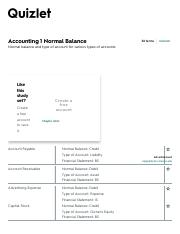 normal balance