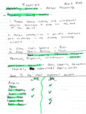 Accounting 1 class notes, credits and debits