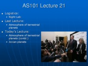 AS101 Lecture 21