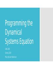 13 notes- Programming the Dynamical Systems Equation.pptx