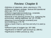 Review Exam 3 - Chs. 8-11