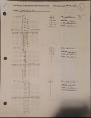 Precal Graphing Rational Functions Worksheet