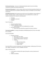 Marketing Chapter 4 notes