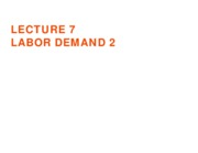 Labor Demand 2