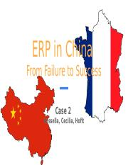 Case 2 ERP in China