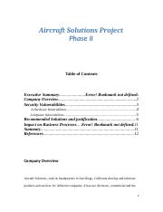 Aircraft Solutions Project phase II.docx