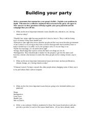 Building your party