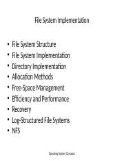 FS IMPLEMENTATION