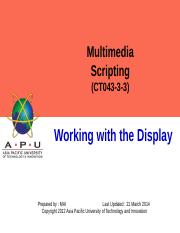 4-Working with the Display