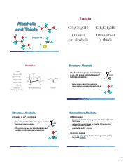 Chapter 10 (Alcohols,Thiols) 6 Slides per Page