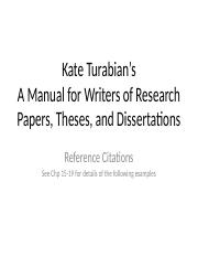 TMAE 7530 Lecture 4 Turabian Citation Style F2016.4