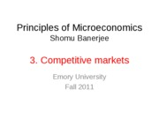 3. Competitive Markets