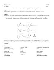 Lab 19- Alkenes from Alcohols- Cyclohexene from Cyclohexanol.docx