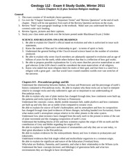 Exam II study guide, Winter 2011