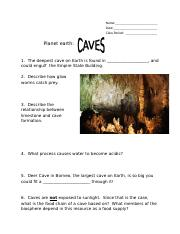 Planet Earth Caves.doc
