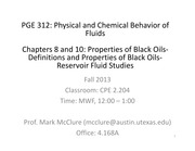 PGE312 CHAPTERS 8 & 9 LECTURE