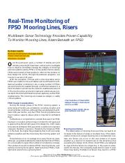 Real-time Monitoring of FPSO Mooring lines,risers