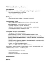 PS251 control systems & innate behaviors class notes