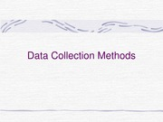 (10) Data Collection Methods