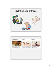 Nutrition and Fitness, Fall 2010 _Key Slides_