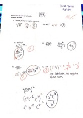 Integer and Rational Exponents and Radicals Quiz