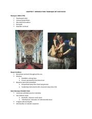 Chapter 7_Introduction to Early Baroque Art and Music