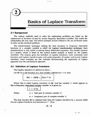 CH2 - Basics of Laplace Transform