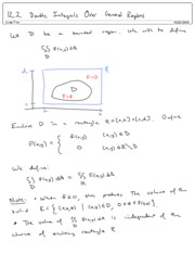12.2 Double Integrals Over General Regions