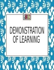 Demonstration of Learning.pptx