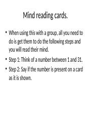 Mind reading cards.pptx