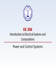EE206 - Power & Control - Term 161
