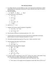 MA118 Exam 4 Review Sheet
