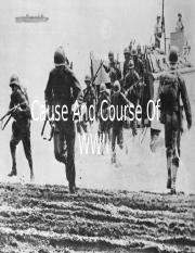 Cause And Course Of WWII