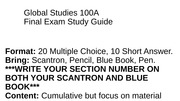 Global Studies 100A Final Review