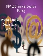 MBA 620 Project 4 Step 2