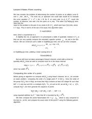 Lecture 8 Notes Point counting