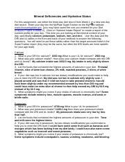 Mineral Deficiencies and Hydration Status(2) (1).docx