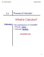 Ch. 01 Notes (Calc BC)