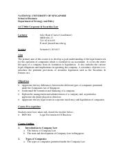 ACC3604 Course Outline Semester 1 AY14-15
