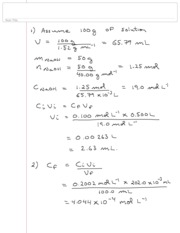 Chem 2030 term test 1 F10 solutions