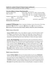 English 161 Syllabus & Schedule