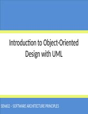 Introduction to Object-Oriented Design with UML(1)