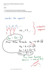 Section 11.2 Arithmetic Sequences and Series (1)