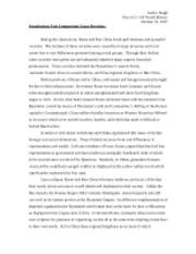 Ccot essay rome political cultural effects