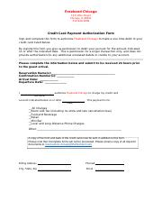 Freehand Credit Card Auth Form