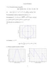 Lesson 20 Solutions