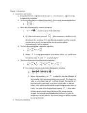 Heat transfer chapter 1 notes