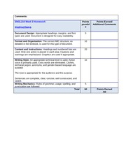 Week 3 Homework Rubric-Instructions