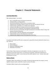 A-100 Ch. 2 Financial Statements